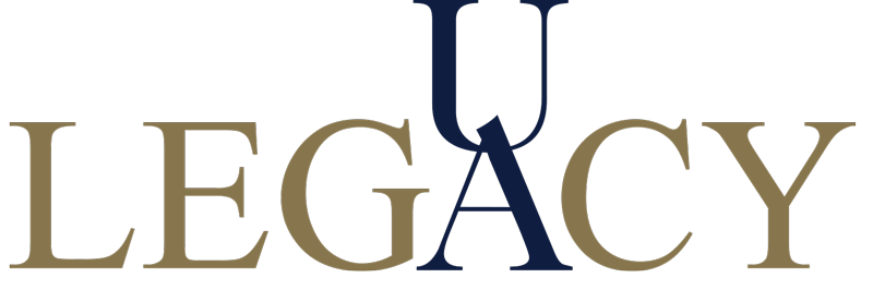 The University of Akron Alumni Legacy student logo.