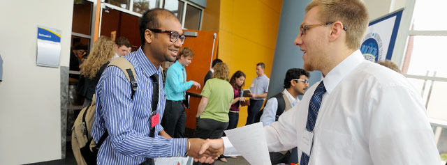 UA students at a career fair on campus
