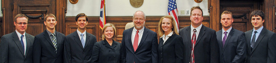 A trial advocacy team from the School of Law at The University of Akron