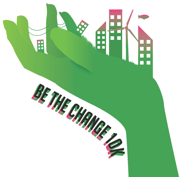 Be the Change 10K pitch competition logo.