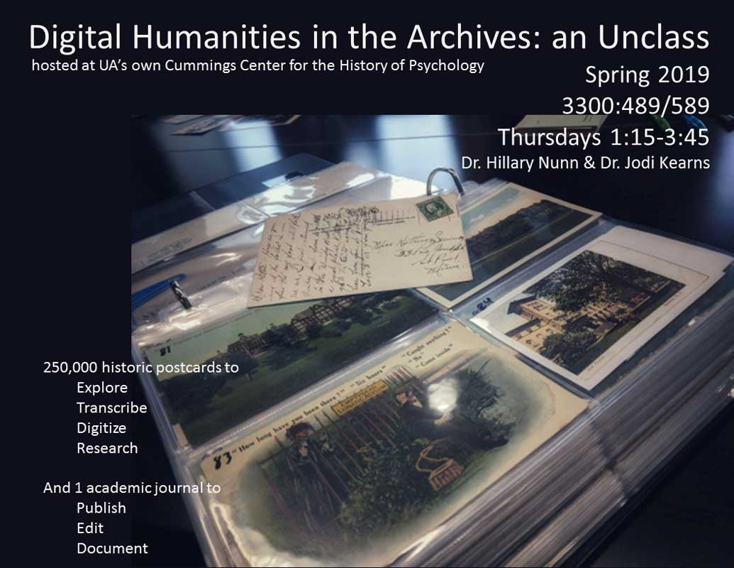 Digital Humanities in the Archives unclass poster