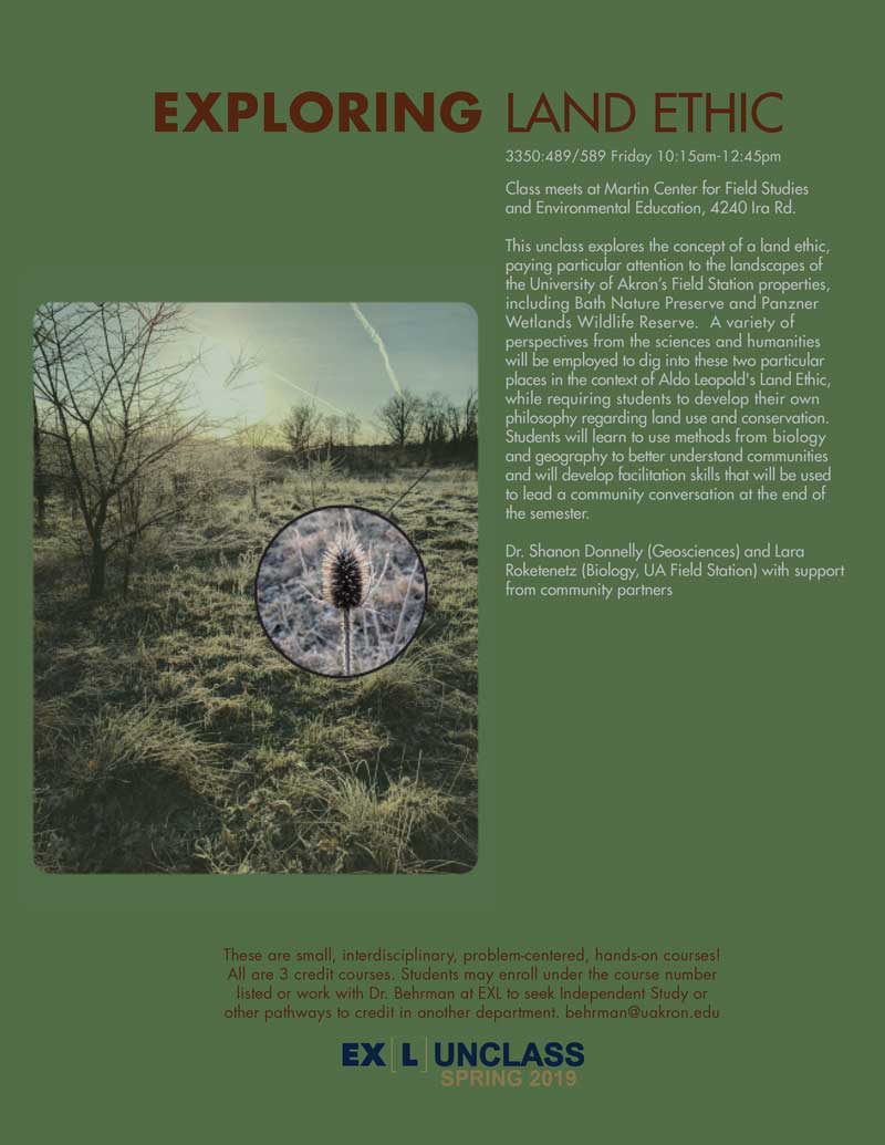 Exploring Land Ethic unclass poster