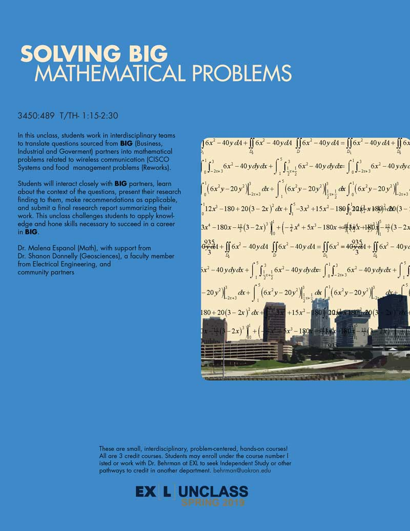 Solving BIG Mathematical Problems unclass poster