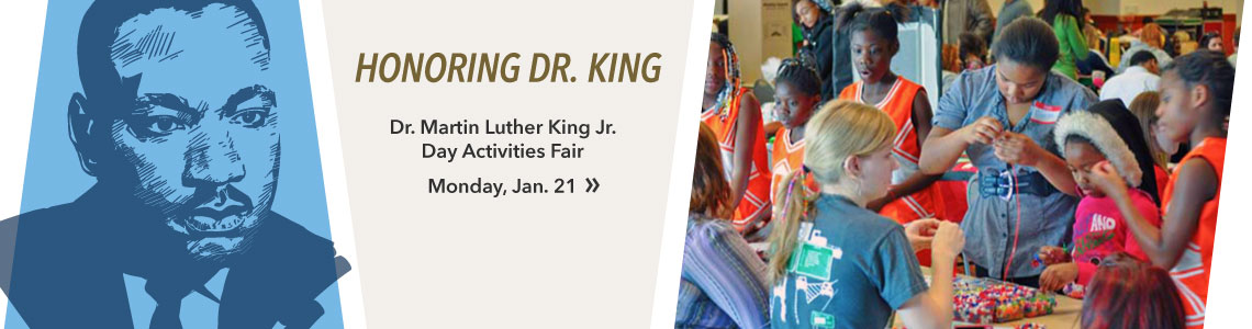 Join us for the Martin Luther King Jr Activities Fair on Monday, Jan. 21