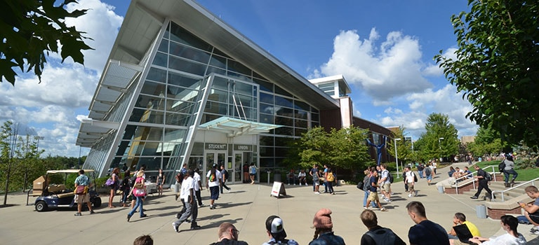The Student Union at at The University of Akron