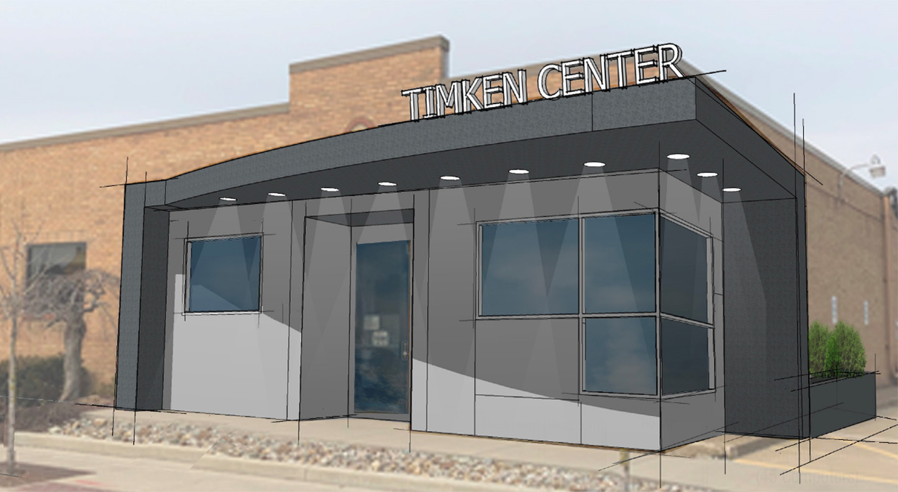 An artist rendering of The Timken Foundation Center for Precision Manufacturing façade