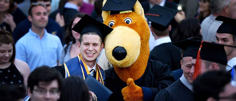 A graduate of The University of Akron with the school's mascot