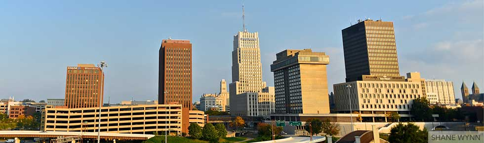 Skyline of the city of Akron