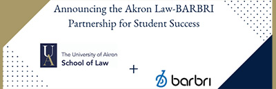 Akron Law's partnership with Barbri exam prep
