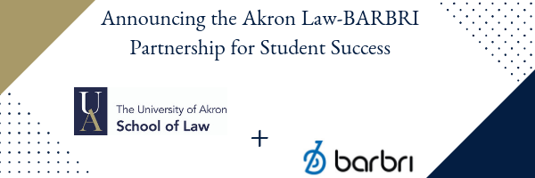 Art reflecting the partnership between Akron Law and Barbri