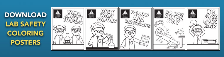 Lab Safety Coloring Posters