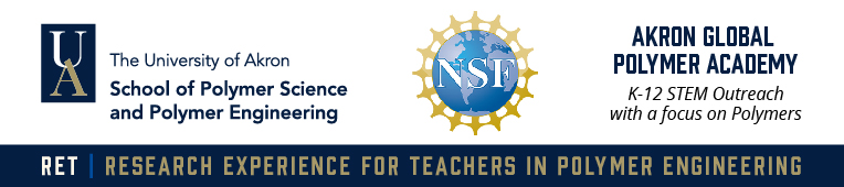 NSF Research Experience for Teachers in Polymer Engineering Banner