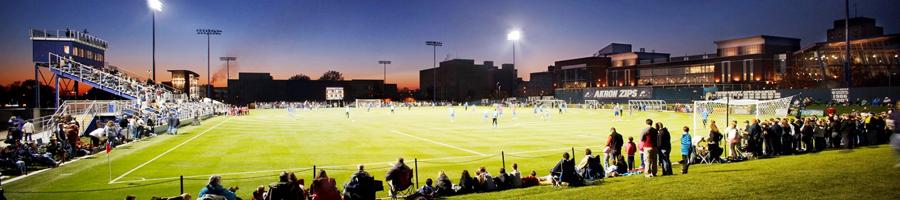 University of Akron night soccer game