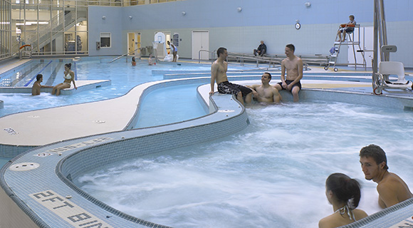 Image of students in a pool