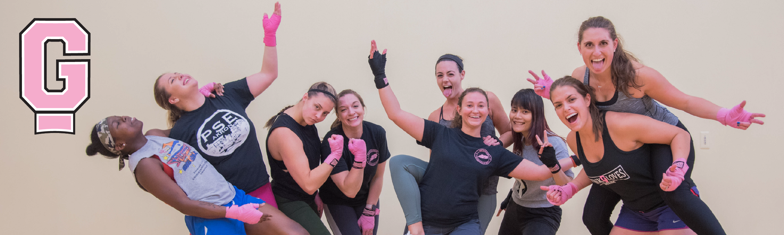 Women of Pink Gloves Boxing