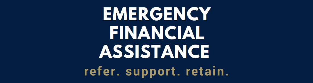 Emergency financial assistance banner