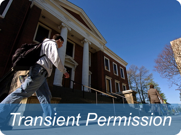 Link to transient student information page
