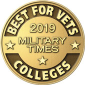 We've been named a best college for veterans by Military Times