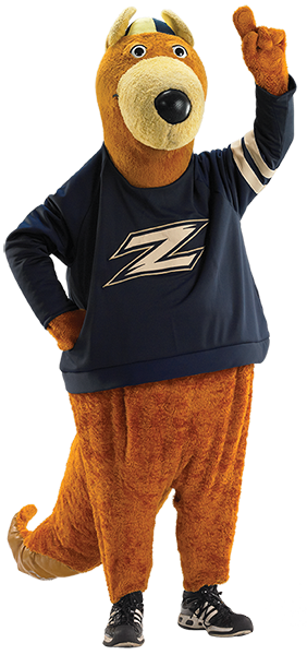 Zippy, the mascot of The University of Akron