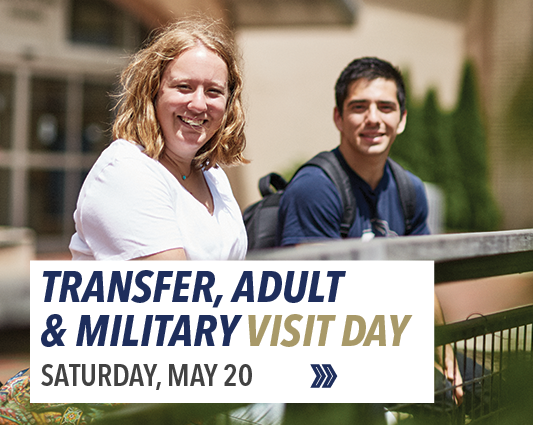 Visit us on Adult, Transfer and Military Service Day on May 20, 2017