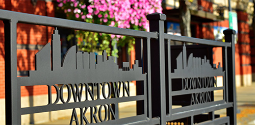 Image of downtown Akron outside