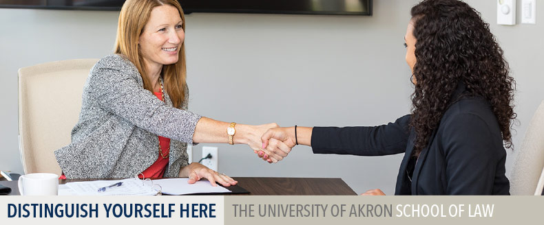 Distinguish yourself here at The University of Akron School of Law