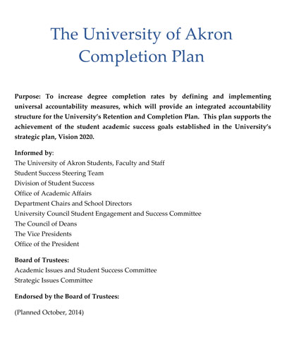 Completion Plan