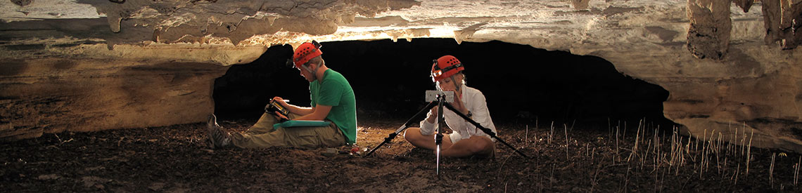 Geology students conducting research