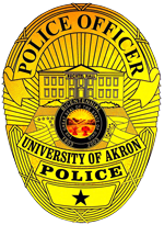 University of Akron Police Department badge