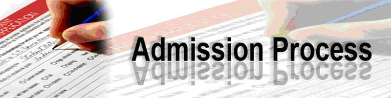 Admission process banner