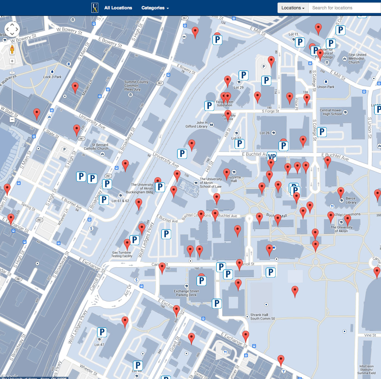 Interactive Campus Map SRU3
