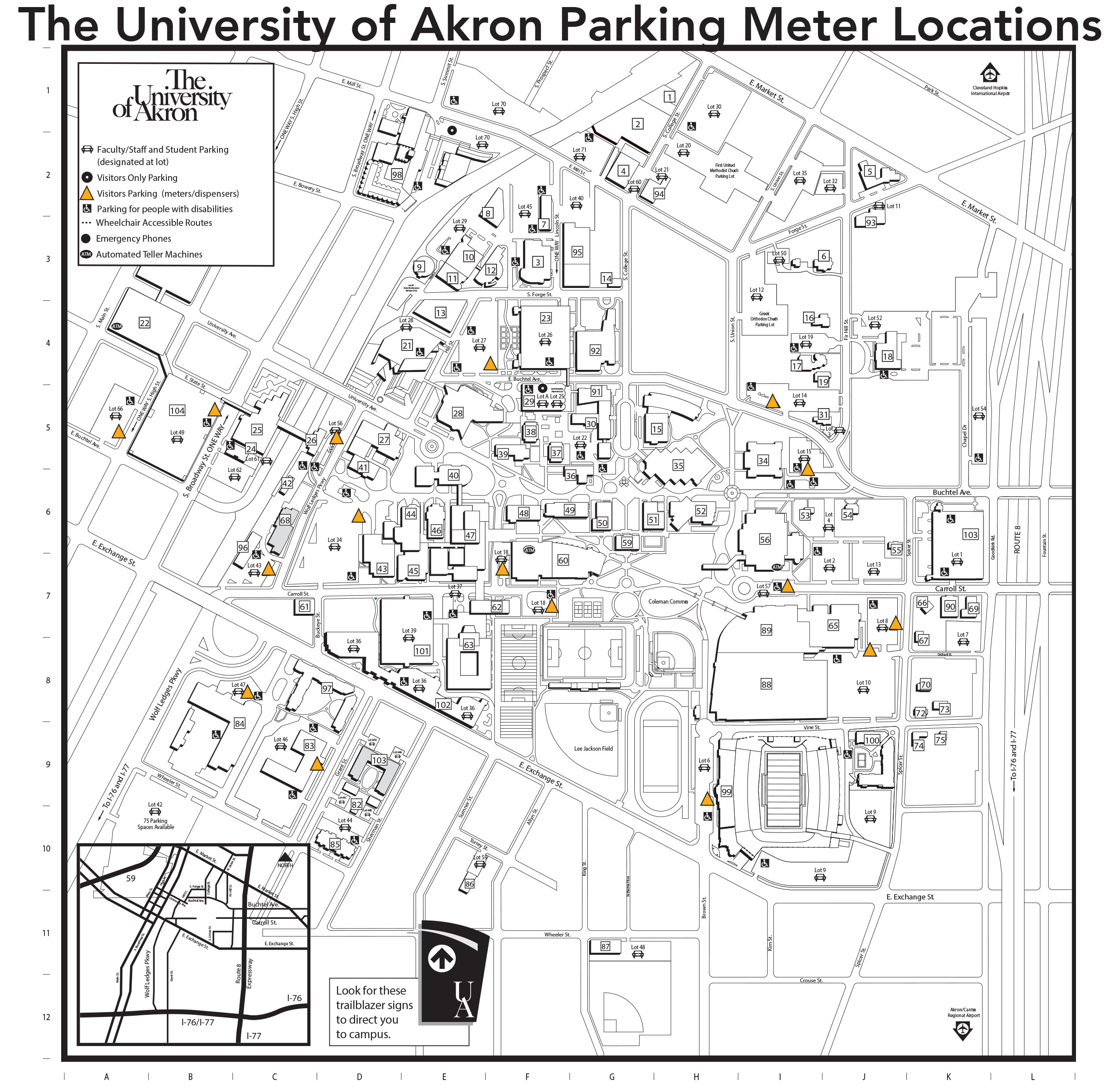 Parking Meter location map