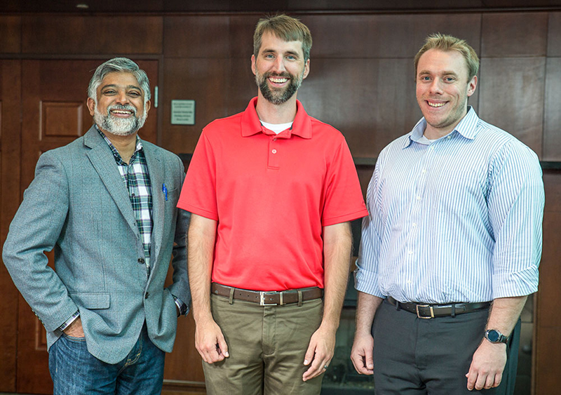 Members of the Cool Aid Team are, from left, Gopal Nadkarni, Dr. Nicholas Garafolo and Harry Harris. Not pictured is Aaron Rood.