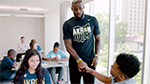 New videos feature campus visit by LeBron James and I PROMISE students